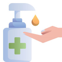 sanitize after touching